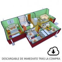 Descarga proyecto Vivienda, Casa Amanecer 50.67 m2