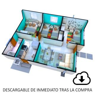 Descarga proyecto Vivienda, Casa Aurora 47,70 m2